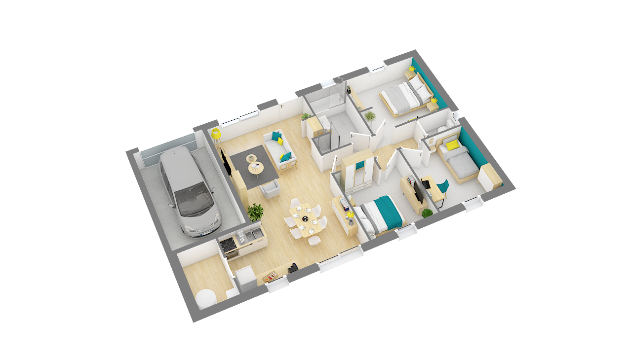 Focus 80 Plan Maison Low Cost 3 Chambres