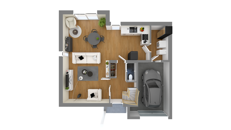 Plan De Maison 4 Chambres Modèle Lesmaisons Com 28 Maisons Com